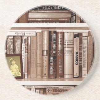 Bookshelf Drink Coaster