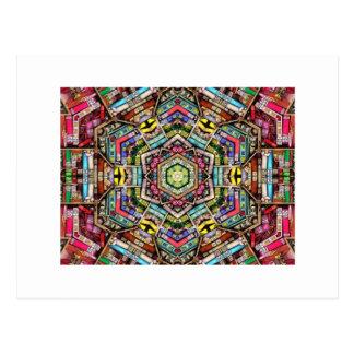 Bookshelf Kaleidoscope Post Cards