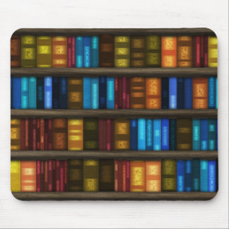 Bookshelf Library. Bookshelves Pattern Mouse Pad