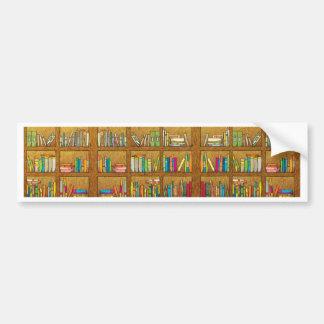 bookshelf pattern bumper stickers