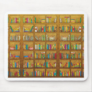bookshelf pattern mouse pad