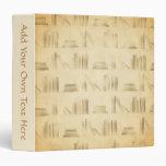 Bookshelf Pattern. Vintage Style Look Background. Binder
