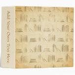 Bookshelf Pattern. Vintage Style Look Background. 3 Ring Binders