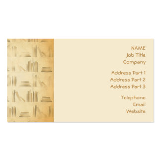 Bookshelf Pattern. Vintage Style Look Background. Business Card Template