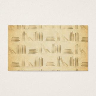Bookshelf Pattern. Vintage Style Look Background. Business Card