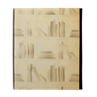 Bookshelf Pattern Vintage Style Look Background iPad Case