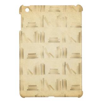 Bookshelf Pattern Vintage Style Look Background iPad Mini Cases