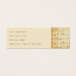 Bookshelf Pattern. Vintage Style Look Background. Mini Business Card