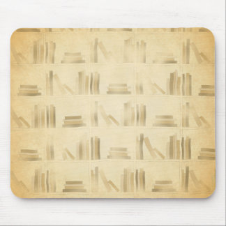 Bookshelf Pattern. Vintage Style Look Background. Mouse Pad