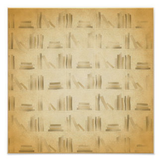 Bookshelf Pattern. Vintage Style Look Background. Posters