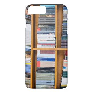 Bookshelf Themed, Neatly Set Wooden  Bookshelves A iPhone 7 Plus Case