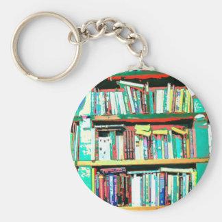 Bookshelves Basic Round Button Keychain