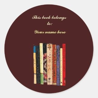 Bookshelves Bookplate