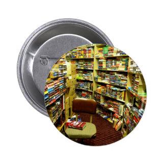 Bookshelves Pinback Button