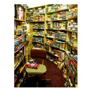 Bookshelves Postcard