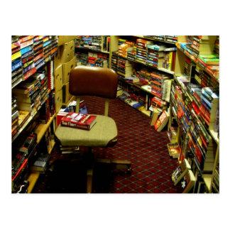 Bookshelves Postcard