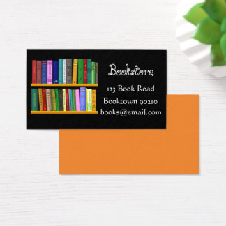 Bookshop, bookstore or online books business card