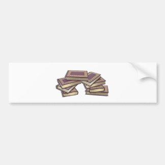 BooksStackedWithGoldLeaf052712.png Bumper Sticker