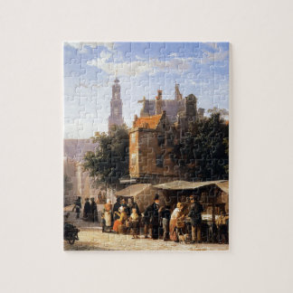 Bookstall on the Noordermarket by Cornelis Springe Jigsaw Puzzle