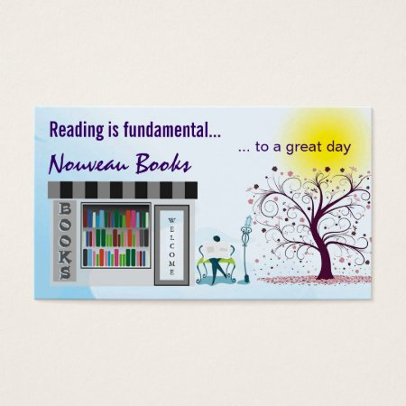 Bookstore and Whimsical Tree Business Cards
