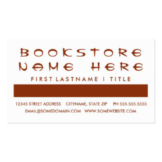 BOOKSTORE customer appreciation (mod squares) Double-Sided Standard Business Cards (Pack Of 100)