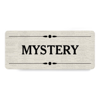 Bookstore Library Vintage Category Mystery Custom Invite
