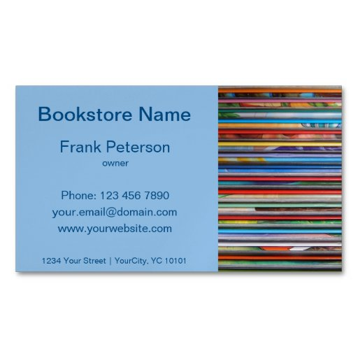 bookstore magnetic business card magnetic business cards