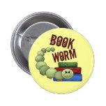 Bookworm 2 Inch Round Button