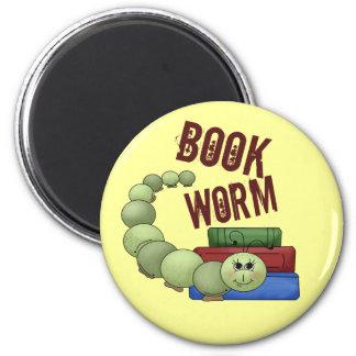 Bookworm 2 Inch Round Magnet
