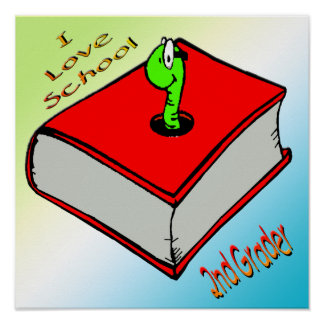 Bookworm 2nd Grader Poster