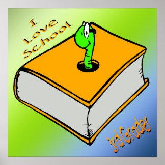 Bookworm 3rd Grader Poster