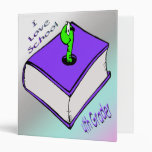 Bookworm 4th Grader Avery Binder