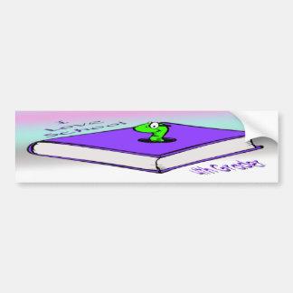 Bookworm 4th Grader - I love School Car Bumper Sticker