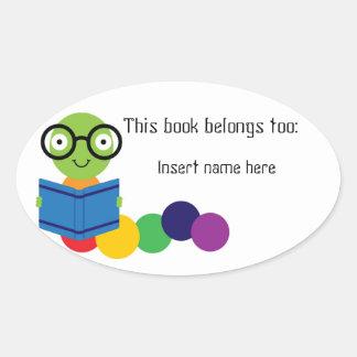 """Bookworm """"belong to"""" sticker"""