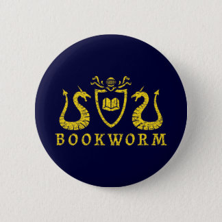 Bookworm Blazon Button