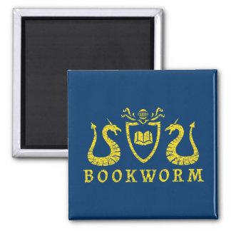 Bookworm Blazon Magnet