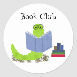 Bookworm Book Club Sticker