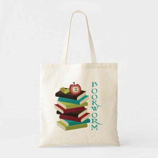 Bookworm Book Lover Tote Bag