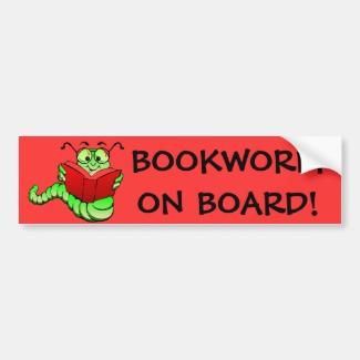 Bookworm Bumper Sticker