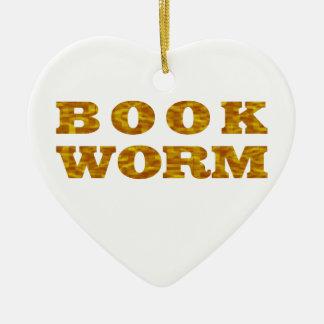 bookworm ceramic ornament