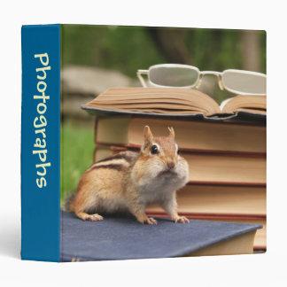 """Bookworm Chipmunk 1.5"""" Photo Album Binder"""