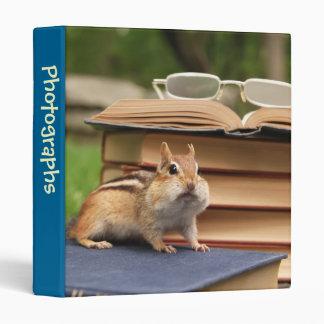 """Bookworm Chipmunk 1"""" Photo Album 3 Ring Binder"""