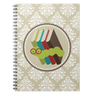 Bookworm Damask Reading Notes Journal