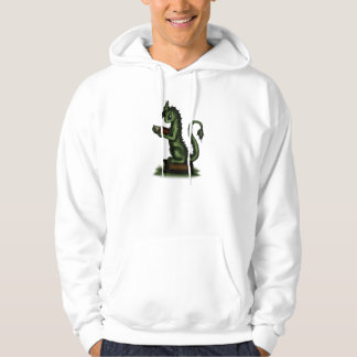 Bookworm Dragon Hooded Pullover