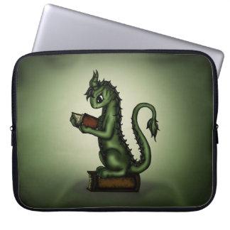 Bookworm Dragon Laptop Computer Sleeve