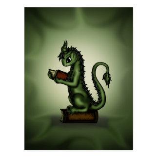 Bookworm Dragon Postcard
