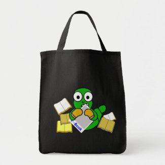 Bookworm eBook Tote Bag (Dark) bag