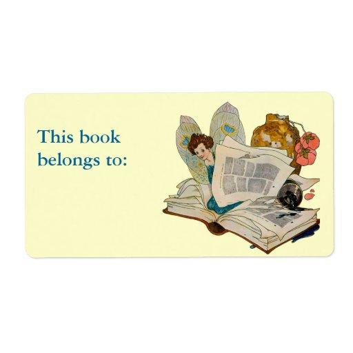 Bookworm Fairy Custom Shipping Label