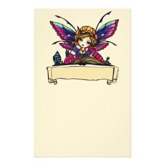Bookworm Fairy Library Fantasy Art by Hannah Lynn Stationery