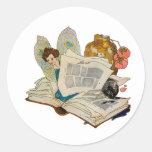 Bookworm Fairy Stickers